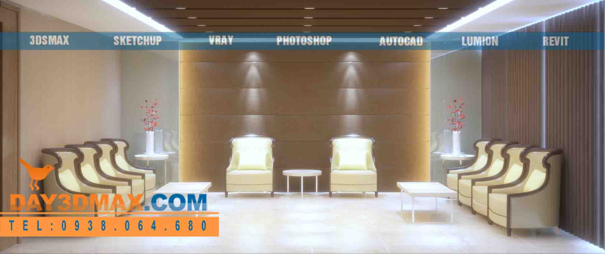 Online 3d Course Rendering A Vip Meeting Room V I 3dsmax