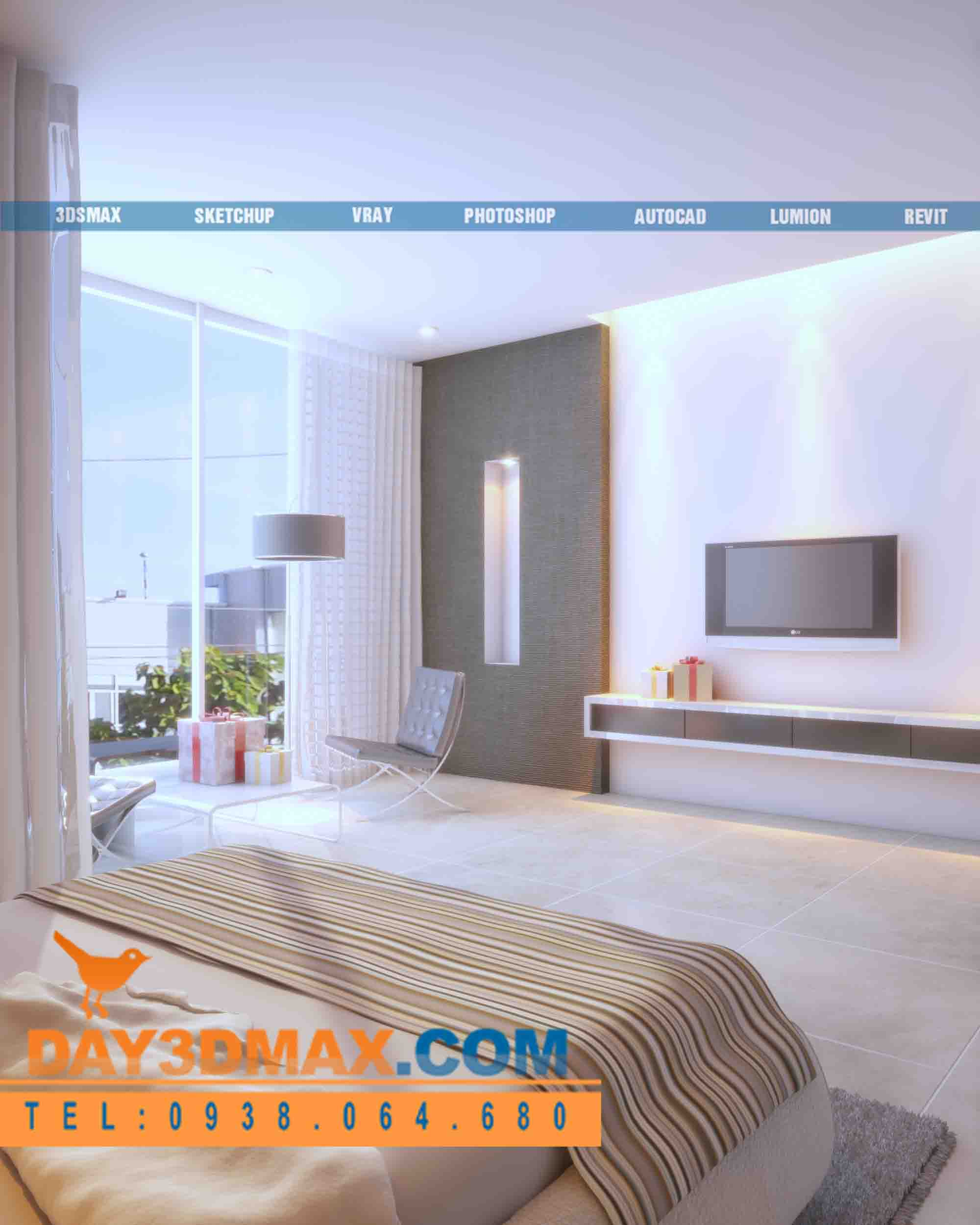 Online 3d Course Render An Interior Of A Bedroom With Vray 3dsmax