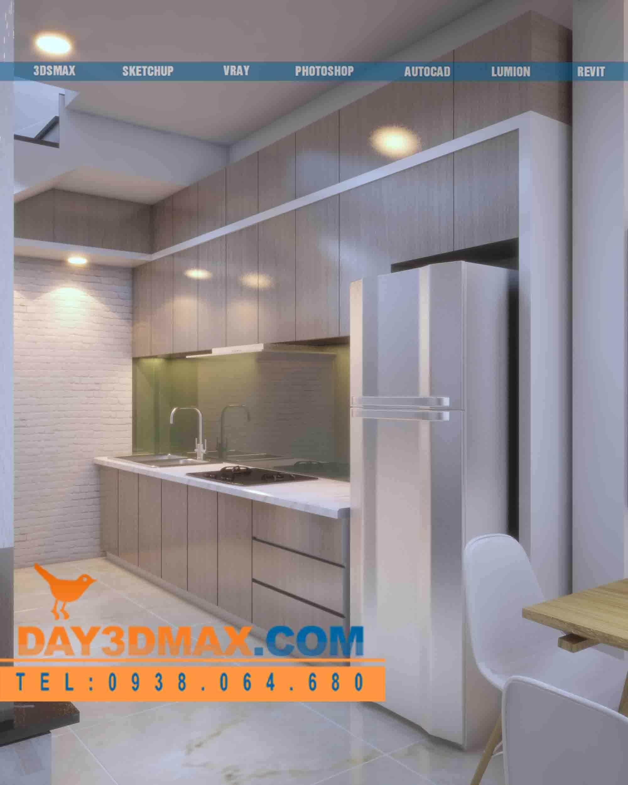 Online 3d Course Render An Interior Of A Kitchen